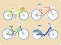 Various bicycles Stock Photos