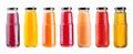 Various Bottles Of Juice Isola...