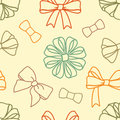 Various-bows-pattern Royalty Free Stock Photo