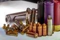 Various Bullets and Shells for Various Guns, With a Gun