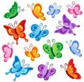 Various butterflies collection 1 Royalty Free Stock Images