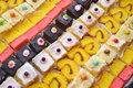 Various cakes pattern of sweet colorful Stock Photography