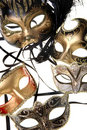 Various carnival masks Stock Images