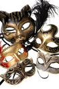 Various carnival masks Royalty Free Stock Photo
