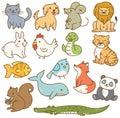Various cartoon animals