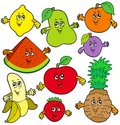 Various cartoon fruits Royalty Free Stock Photo