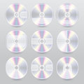 Various cd dvd blu ray cover designs Royalty Free Stock Photo