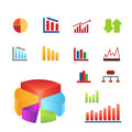 Various charts for business and finance Stock Photography