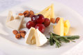 various cheeses on a plate Royalty Free Stock Photo