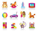 Various children's toys Royalty Free Stock Photography