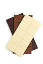 Various chocolate bars Royalty Free Stock Photo