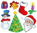 Various Christmas images Royalty Free Stock Images