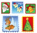 Various Christmas post stamps 1 Stock Photos