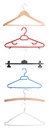 Various coat-hangers Stock Image