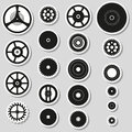 Various cogwheels parts of watch movement stickers Royalty Free Stock Photo