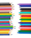 Various color pencils and markers Royalty Free Stock Photo