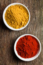 Various colored spices Royalty Free Stock Photos