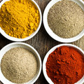 Various colored spices Stock Photos