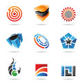 Various colorful abstract icons, Set 16 Stock Photos