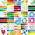 Various colorful banners vector collection or sets for design Royalty Free Stock Photography