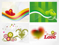 Various colorful heart background set for your des Royalty Free Stock Photography