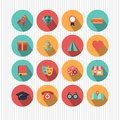 Various colorful icons Royalty Free Stock Photo