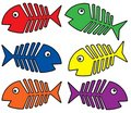 Various colors fishbones