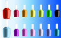 Various Colors of Nail Polish Vector Stock Photography
