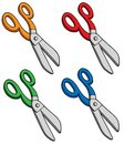 Various colors scissors Royalty Free Stock Images