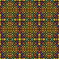 Various colors of square grid pattern korean traditional patter design series Royalty Free Stock Photography