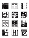 Various construction materials vector illustration Royalty Free Stock Image