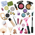 Various Cosmetics Isolated On ...