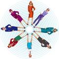 Various costumes stewardess. Women`s costumes