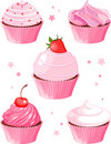 Various cupcake Royalty Free Stock Image
