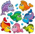 Various cute fishes collection 2 Royalty Free Stock Photo