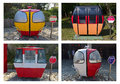 Various design of retired cabin cable cars from different attractions around europe top left is sextas central pyrenees spain Royalty Free Stock Photo