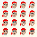 Various emotions of the character. Set of avatar icons.