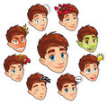 Various expressions of boy. Royalty Free Stock Images