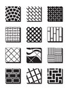 Various external building surfaces vector illustration Stock Photos