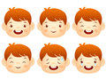 Various facial expressions of kids emotion character design ser series Royalty Free Stock Image