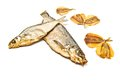 Various fish appetizer on white background closeup Royalty Free Stock Photography