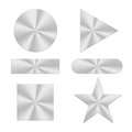 Various forms of aluminum sheet Royalty Free Stock Photography