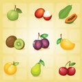 Various fruits Royalty Free Stock Image