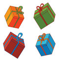 Various gift box illustration of Royalty Free Stock Photography