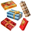 Various gifts on white Stock Image