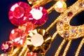 Various gold jewellery closeup Royalty Free Stock Photo