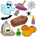 Various Halloween images 3 Royalty Free Stock Photo