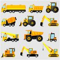 Various heavy equipment