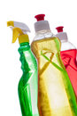 Various household cleaning products Royalty Free Stock Photography
