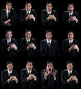 Various human emotions Royalty Free Stock Photo